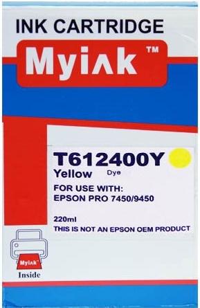 Картридж совместимый MyInk T6124 желтый для Epson