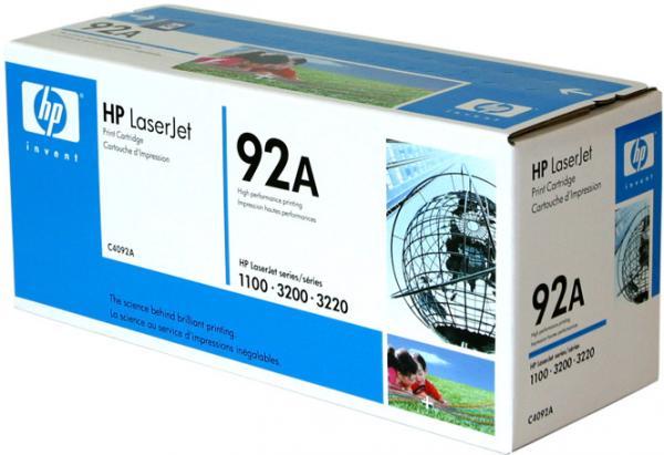 Картридж HP 92A черный оригинальный