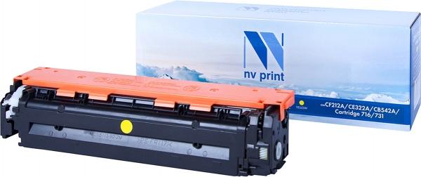 Картридж совместимый NVPrint CF212A/ CANON 731 для HP и CANON желтый