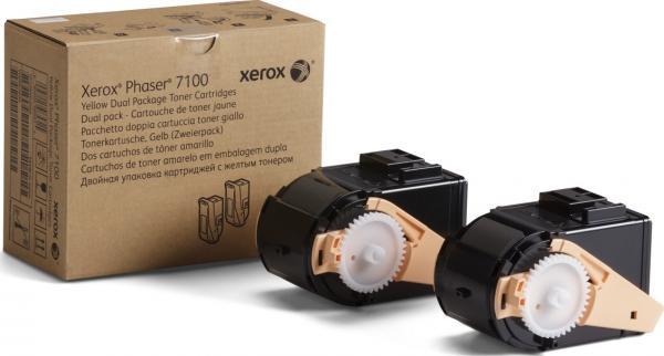 Тонер-картридж XEROX 106R02611 желтый оригинальный