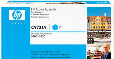 Картридж HP C9731A голубой оригинальный