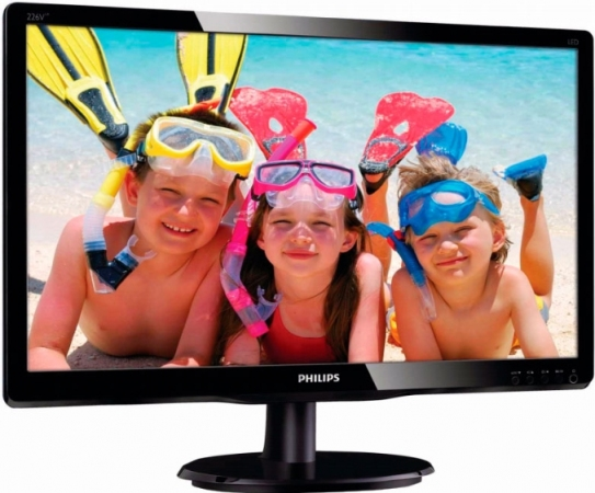 "Монитор 21.5"" Philips 226V4LAB/00(01) Black"
