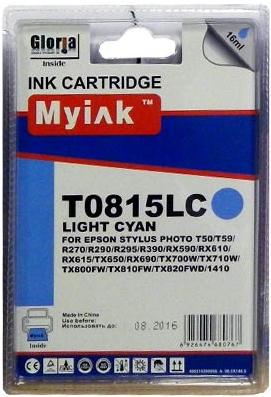 Картридж совместимый MyInk T0825 светло синий для Epson
