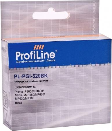 Картридж совместимый ProfiLine PGI-520BK для Canon с чипом