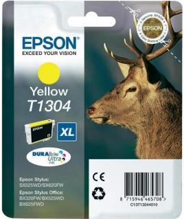 Картридж EPSON T13044010 желтый оригинальный