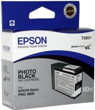Картридж Epson T5801 (C13T580100) фото черный оригинальный