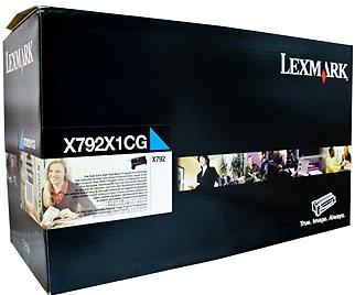 Картридж Lexmark X792X1CG голубой оригинальный