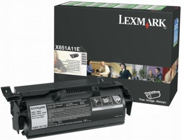 Картридж Lexmark X651A11E оригинальный