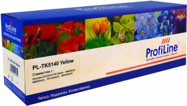 Картридж совместимый ProfiLine TK-5140Y желтый для Kyocera