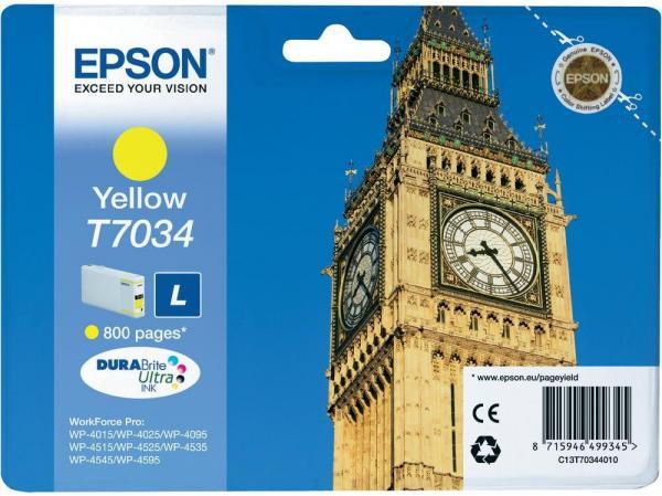 Картридж EPSON C13T70344010 желтый оригинальный