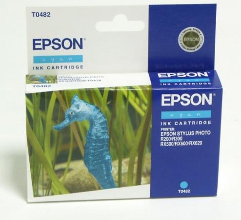 Картридж EPSON T0482 голубой оригинальный