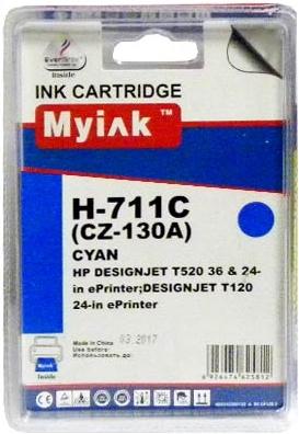 Картридж совместимый MyInk CZ130A синий для HP