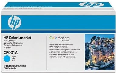 Картридж HP CF031A синий оригинальный