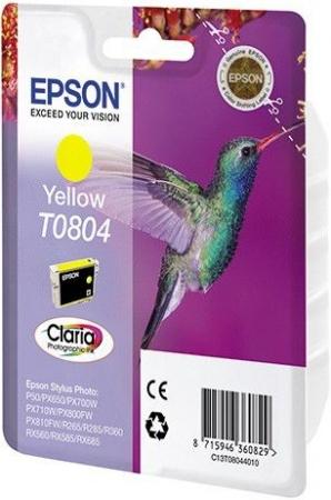 Картридж EPSON C13T08044011 желтый оригинальный
