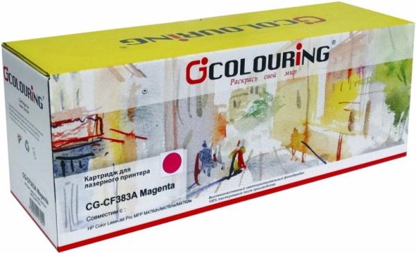 Картридж совместимый Colouring CF383A для HP пурпурный