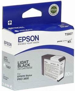Картридж Epson T5807 (C13T580700) серый оригинальный