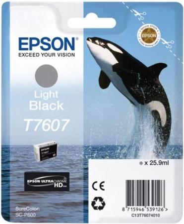 Картридж Epson C13T76074010 серый оригинальный