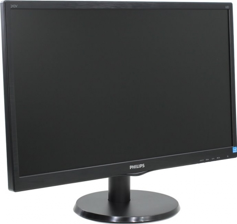"Монитор 23.6"" PHILIPS 243V5LHSB/00(01) Black"