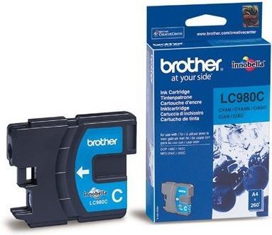 Картридж BROTHER LC-980C голубой оригинальный