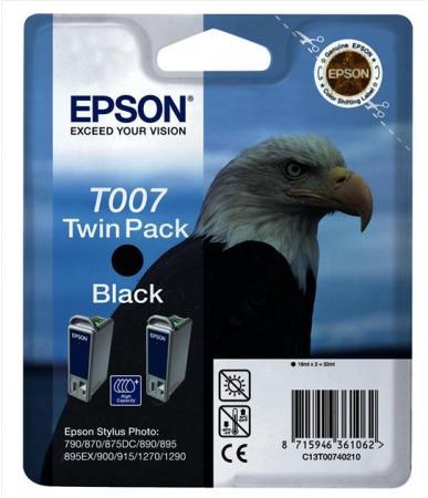 Картридж EPSON C13T00740210 черный оригинальный двойная упаковка