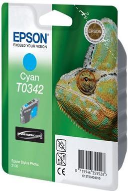 Картридж EPSON T034240 голубой оригинальный