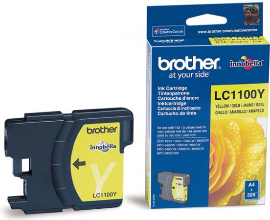 Картридж Brother LC1100Y желтый оригинальный