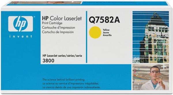 Картридж HP Q7582A желтый оригинал