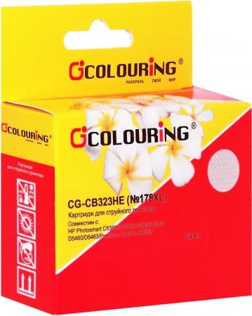 Картридж совместимый Colouring CB323HE №178XL для HP голубой