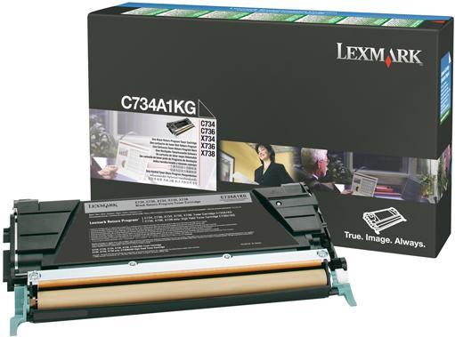Картридж Lexmark C734A1KG оригинальный