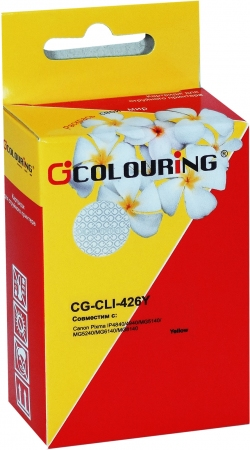 Картридж совместимый Colouring CLI-426Y для Canon желтый с чипом