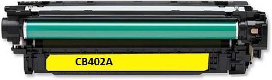 Картридж совместимый SuperFine CB402A желтый для HP
