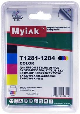 Картридж совместимый MyInk T1281 черный для Epson