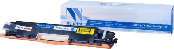 Картридж совместимый NVPrint CE311A/CF351A/Canon 729 для HP и Canon голубой