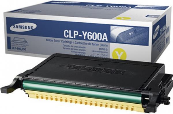 Картридж Samsung CLP-Y600A желтый оригинальный