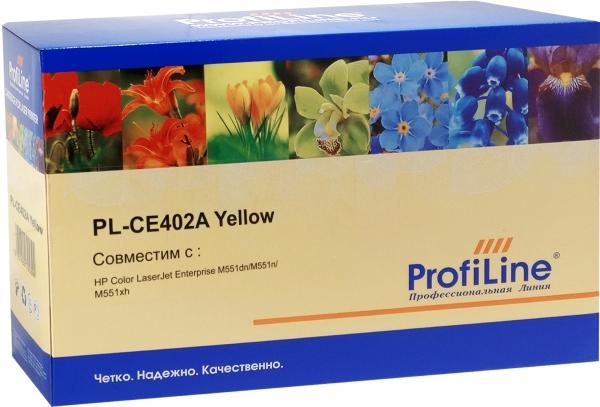 Картридж совместимый ProfiLine CE402A Yellow для HP