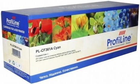 Картридж совместимый ProfiLine CF361A голубой для HP