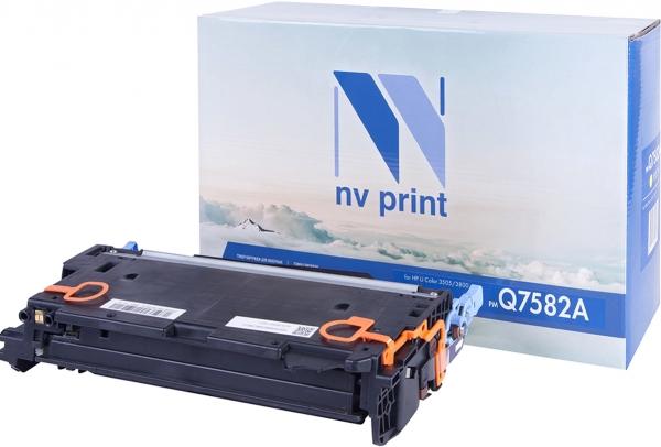 Картридж совместимый NVPrint Q7582A для HP желтый