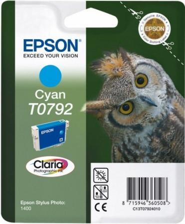 Картридж EPSON C13T07924010 голубой оригинальный