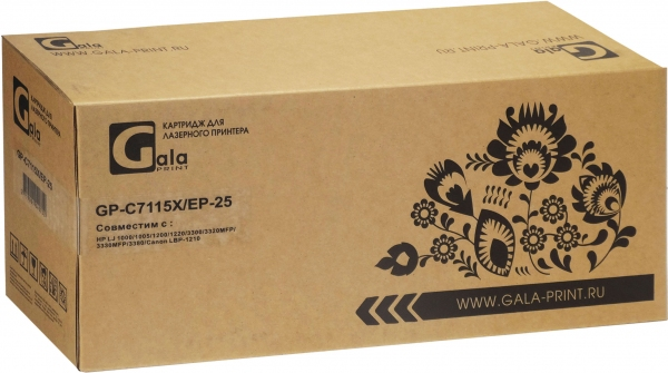Картридж совместимый GalaPrint C7115X/EP-25 для HP и Canon