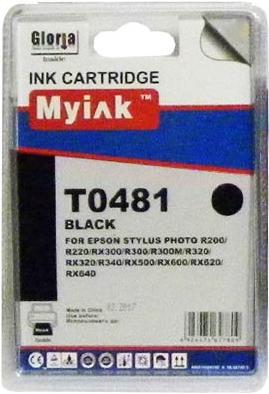 Картридж совместимый MyInk T0481 черный для Epson