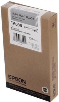 Картридж EPSON C13T603900 светло-серый оригинальный