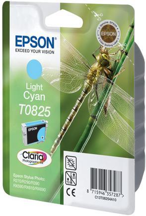 Картридж EPSON T08254A светло-голубой оригинальный