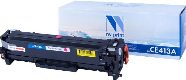 Картридж совместимый NVPrint CE413A/CC533A/Canon 718 для HP и Canon пурпурный