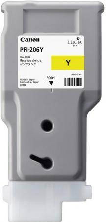 Картридж CANON PFI-206 желтый оригинальный