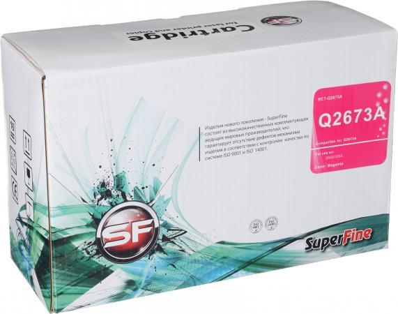 Картридж совместимый SuperFine Q2673A пурпурный для HP