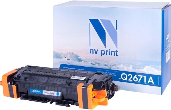 Картридж совместимый NV Print Q2671A голубой для HP