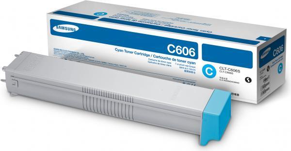 Картридж Samsung CLT-C606S голубой оригинальный