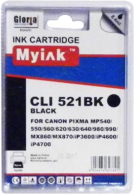 Картридж совместимый MyInk CLI-521BK черный для Canon