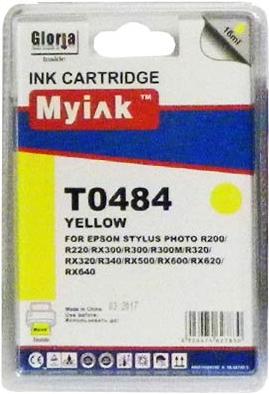 Картридж совместимый MyInk T0484 желтый для Epson
