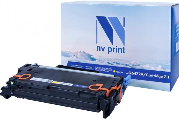 Картридж совместимый NVPrint Q6472A/Canon 711 для HP и Canon желтый